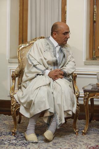 تصویری لباس عجیب و غریب یک سفیر در دیدار با ظریف