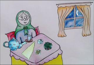 انیمیشن افطاری های پر برکت مادر بزرگ