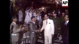 فیلمی بسیار دیدنی از صدام حسین در زمان حمله عراق به کویت