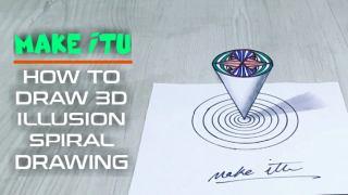 آموزش نقاشی انتزاعی و سه بعدی