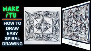 نقاشی انتزاعی مارپیچ سه بعدی