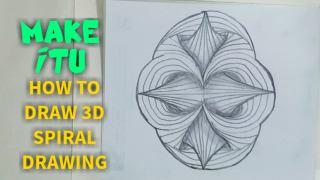 نقاشی سه بعدی مارپیچ